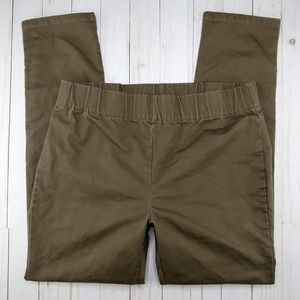 Soft Surroundings Brown Pull On Metro Pants Snaps